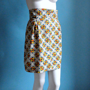 Summer Colorful Batik Cotton COTELAC Skirt sz M